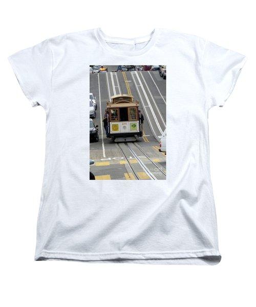 Women's T-Shirt (Standard Cut) featuring the photograph Cable Car by Steven Spak