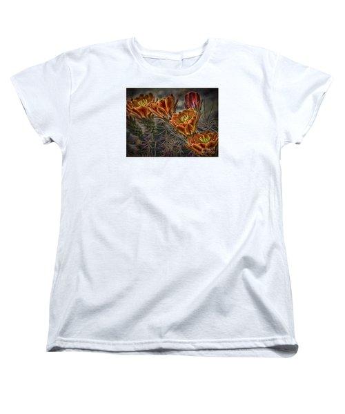Women's T-Shirt (Standard Cut) featuring the photograph Cactus Flowers  ... by Chuck Caramella