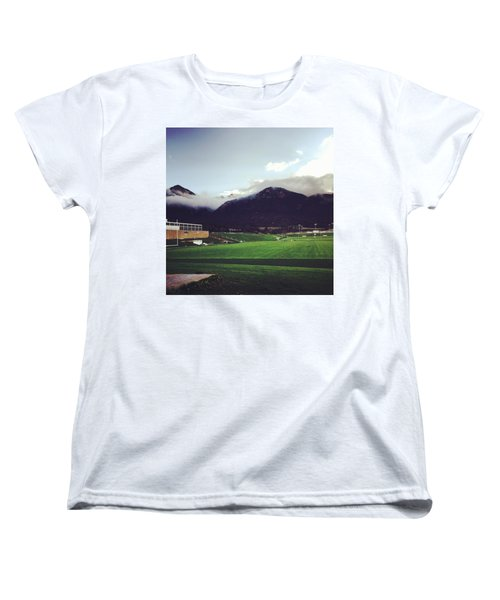 Cadet Athletic Fields Women's T-Shirt (Standard Cut) by Christin Brodie