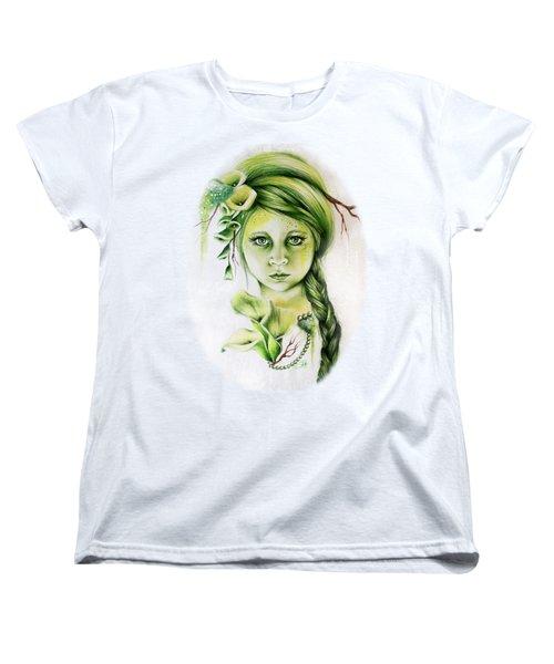 Women's T-Shirt (Standard Cut) featuring the drawing Cala by Sheena Pike
