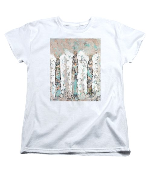 Calico Angel Trio Women's T-Shirt (Standard Cut) by Kirsten Reed