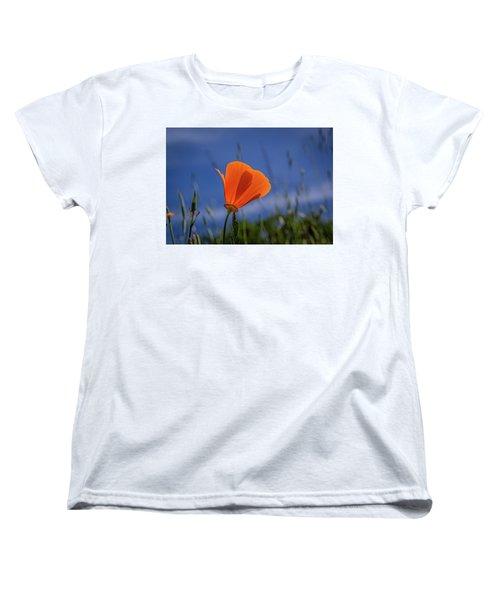 California Poppy Women's T-Shirt (Standard Cut) by Marc Crumpler