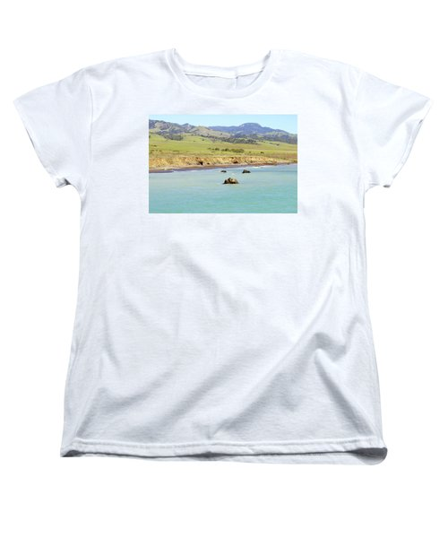 Women's T-Shirt (Standard Cut) featuring the photograph California's Central Coast by Art Block Collections