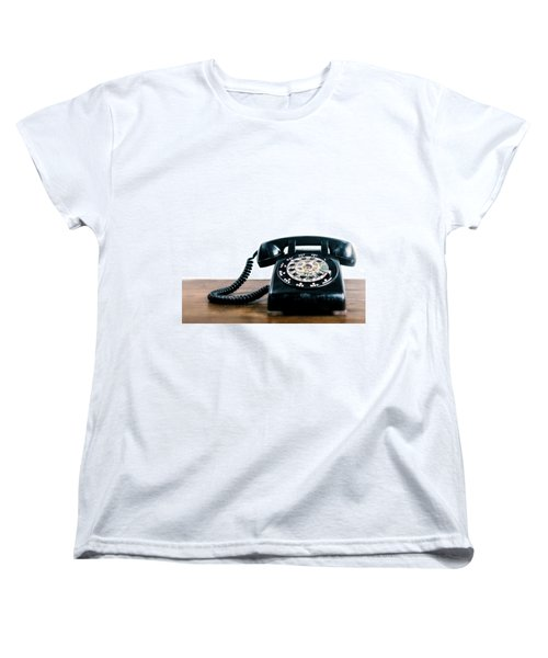 Women's T-Shirt (Standard Cut) featuring the photograph Call Me Let's Do Work. by TC Morgan