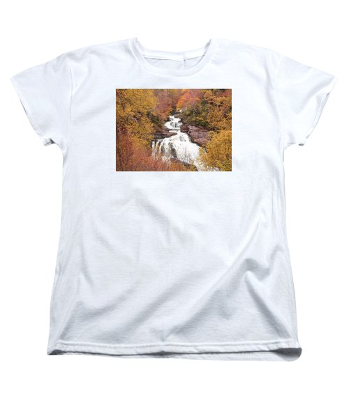 Callasaja Falls- North Carolina 2 Women's T-Shirt (Standard Cut) by Penny Lisowski