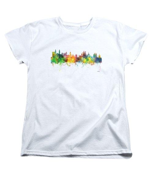 Cambridge England Skyline Women's T-Shirt (Standard Cut) by Marlene Watson