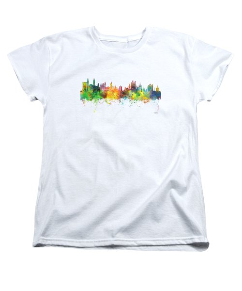 Cambridge England Skyline Women's T-Shirt (Standard Fit)