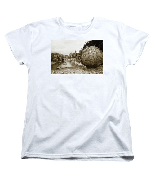Cambridge Punting Sepia Women's T-Shirt (Standard Cut) by Eden Baed