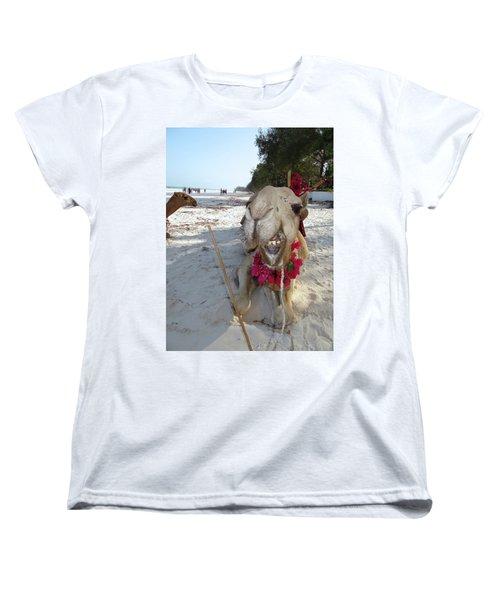 Camel On Beach Kenya Wedding2 Women's T-Shirt (Standard Fit)