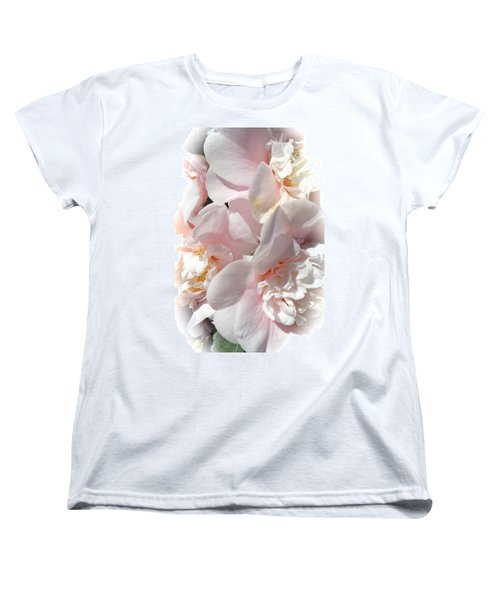 Camellias Softly Women's T-Shirt (Standard Cut) by Michele Myers