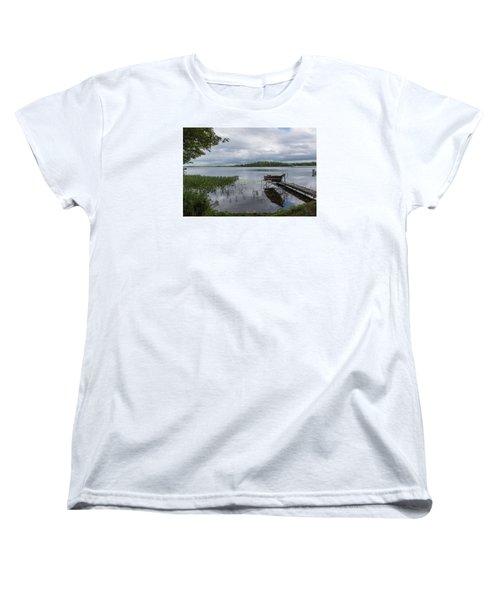 Camelot Island From Wilderness Point Women's T-Shirt (Standard Cut) by Gary Eason