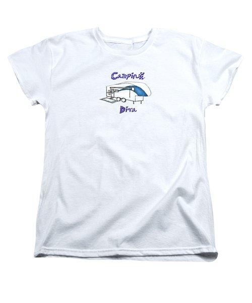 Camping Diva Women's T-Shirt (Standard Cut)