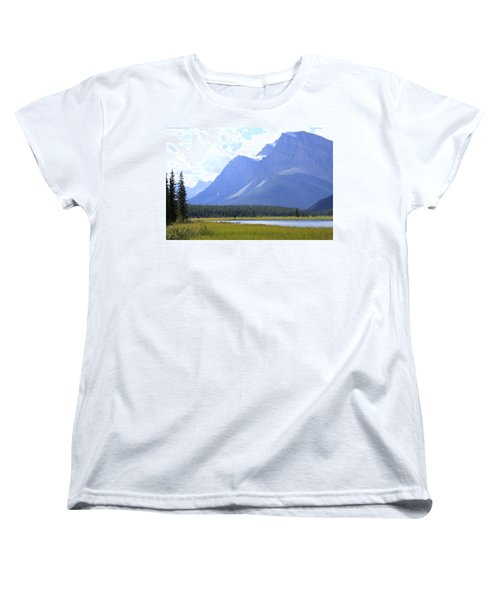 Canadian Mountains Women's T-Shirt (Standard Cut) by Catherine Alfidi