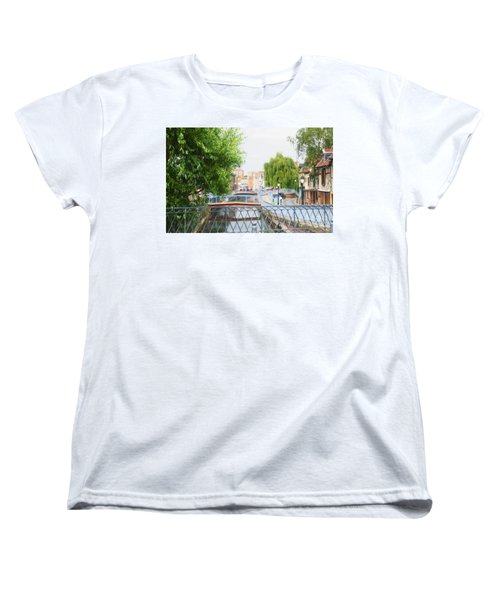Women's T-Shirt (Standard Cut) featuring the photograph Canal View In Amiens by Therese Alcorn