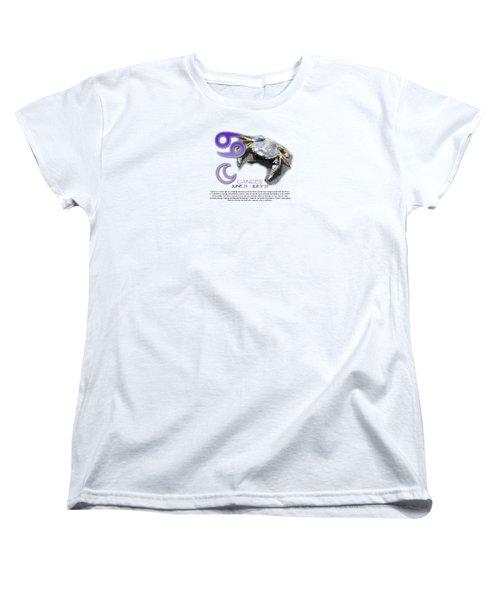 Cancer Sun Sign Women's T-Shirt (Standard Cut) by Shelley Overton