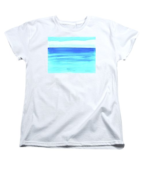 Women's T-Shirt (Standard Cut) featuring the painting Cancun Mexico by Dick Sauer