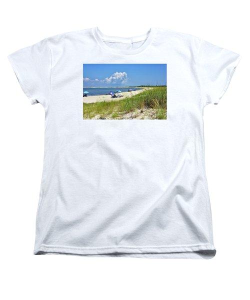 Women's T-Shirt (Standard Cut) featuring the photograph Cape Henlopen State Park - Beach Time by Brendan Reals
