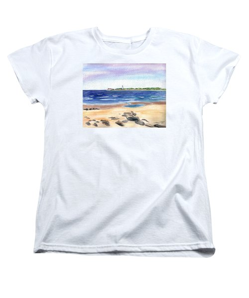 Cape May Beach Women's T-Shirt (Standard Cut) by Clara Sue Beym