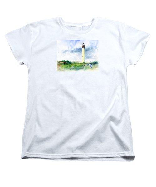 Cape May Lighthouse Women's T-Shirt (Standard Cut) by John D Benson