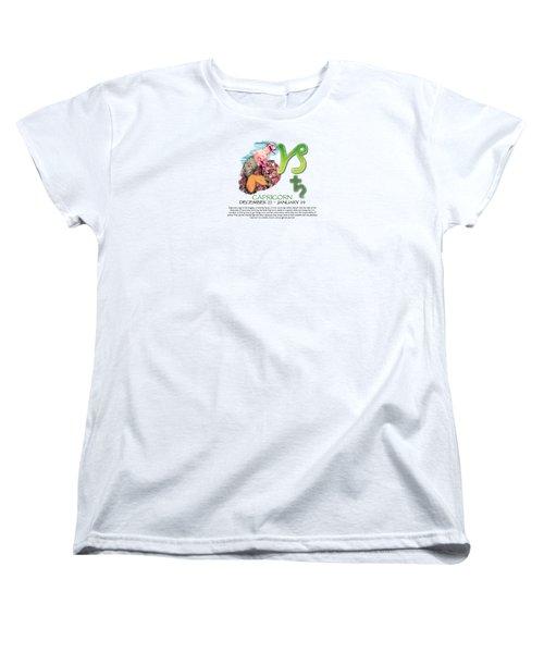 Capricorn Sun Sign Women's T-Shirt (Standard Cut) by Shelley Overton