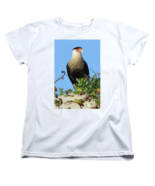 Women's T-Shirt (Standard Cut) featuring the photograph Caracara Portrait by Debra Martz