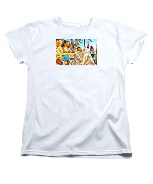 Women's T-Shirt (Standard Cut) featuring the painting Caribbean Scenes - Limbo by Wayne Pascall