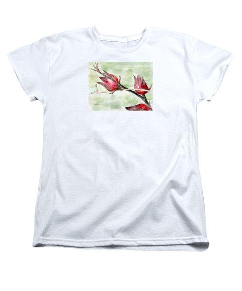 Caribbean Scenes - Sorrel Plant Women's T-Shirt (Standard Cut)