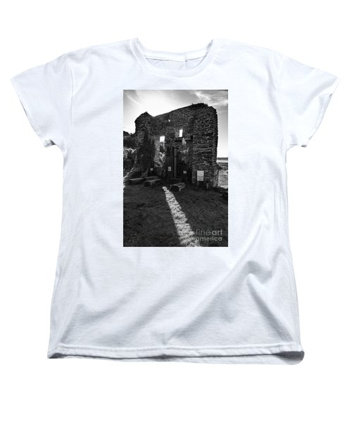 Women's T-Shirt (Standard Cut) featuring the photograph Photographs Of Cornwall Carnon Mine by Brian Roscorla