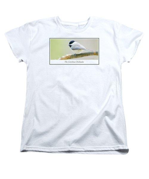 Carolina Chickadee, Animal Portrait Women's T-Shirt (Standard Cut) by A Gurmankin