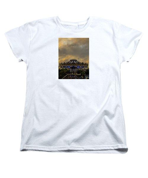Carousel By The Eiffel Tower Women's T-Shirt (Standard Cut) by Jean Haynes