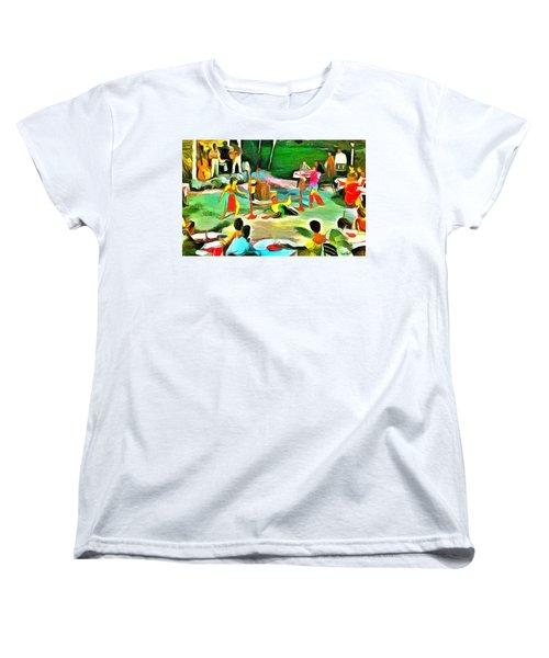 Carribean Scenes - Calypso And Limbo Women's T-Shirt (Standard Cut)