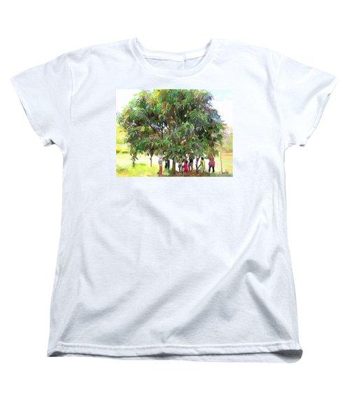 Carribean Scenes - Under De Mango Tree Women's T-Shirt (Standard Cut)
