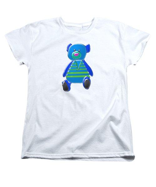Cartoon Bear In Sweater Vest Women's T-Shirt (Standard Cut) by Karen Nicholson