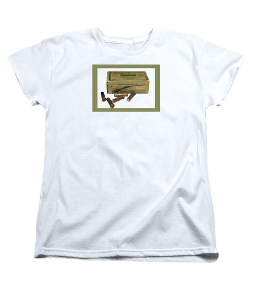 Cartridges For Rifle Women's T-Shirt (Standard Cut) by Susan Leggett