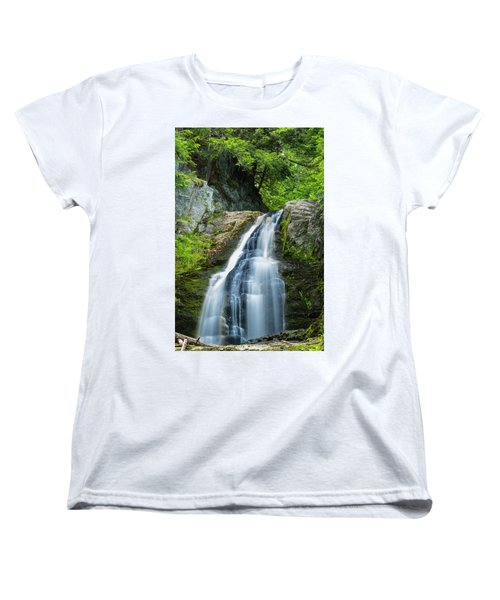 Women's T-Shirt (Standard Cut) featuring the photograph Cascade Falls In South Portland In Maine by Ranjay Mitra