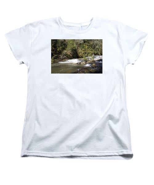 Cascade Falls Women's T-Shirt (Standard Cut) by Ricky Dean