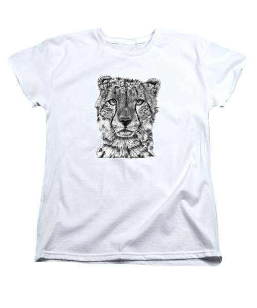 Cassandra The Cheetah Women's T-Shirt (Standard Cut) by Abbey Noelle