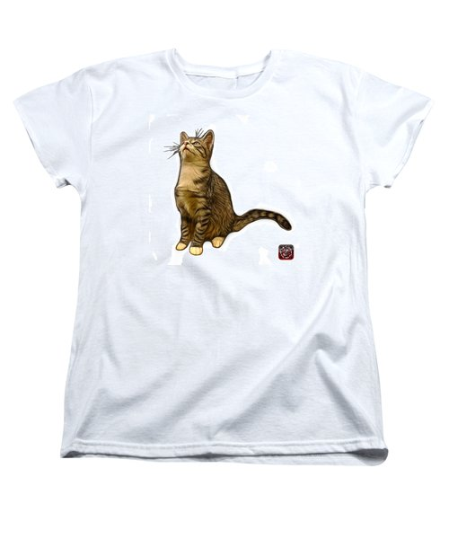 Cat Art - 3771 Wb Women's T-Shirt (Standard Cut) by James Ahn