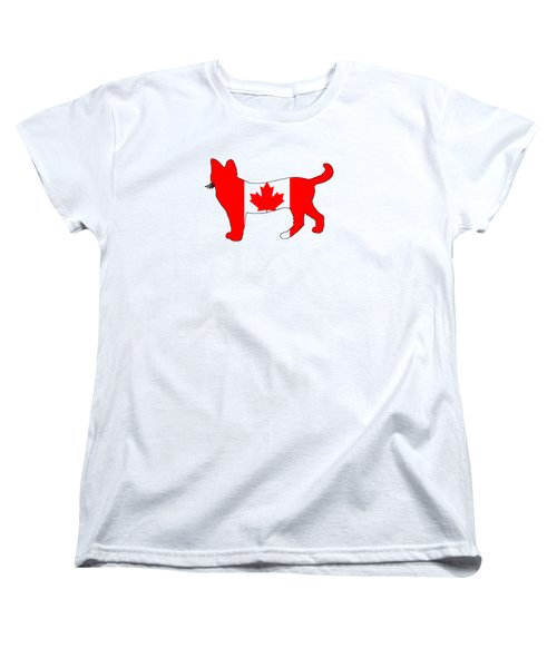 Cat Canada Women's T-Shirt (Standard Cut) by Mordax Furittus