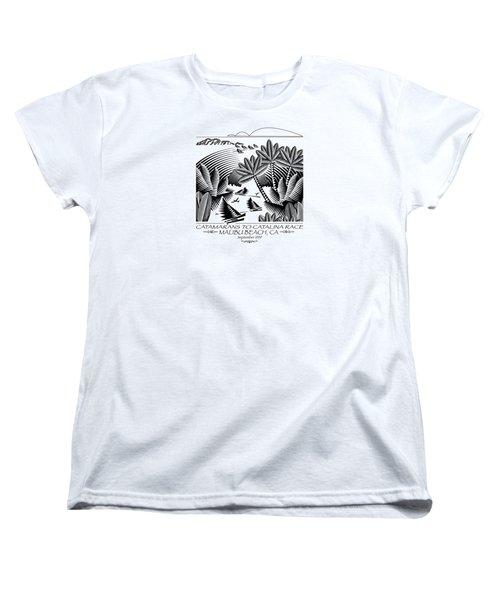 Catamarans To Catalina Race Women's T-Shirt (Standard Cut)