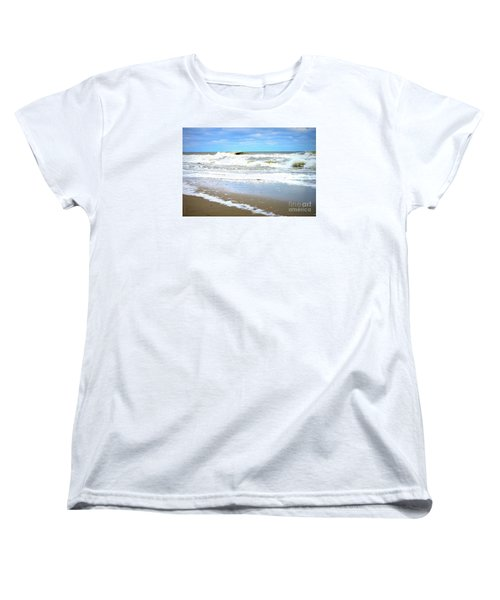 Catch A Wave Women's T-Shirt (Standard Cut) by Shelia Kempf