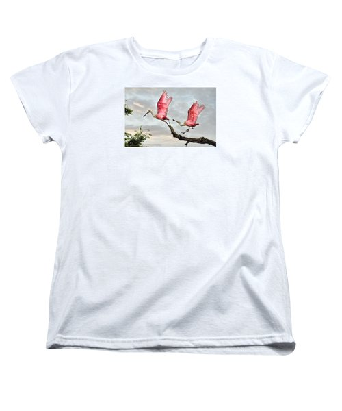 Women's T-Shirt (Standard Cut) featuring the photograph Catch Me If You Can by Brian Tarr