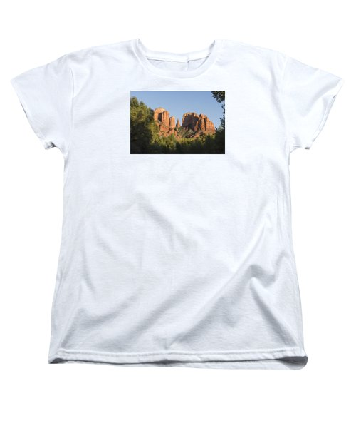 Cathedral In The Trees Women's T-Shirt (Standard Cut) by Laura Pratt