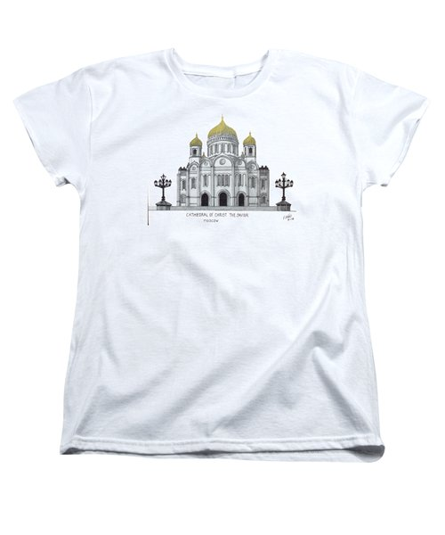 Cathedral  Of Christ The Savior - Moscow Women's T-Shirt (Standard Cut) by Frederic Kohli