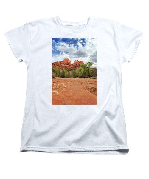 Women's T-Shirt (Standard Cut) featuring the photograph Cathedral Rock Sedona by James Eddy