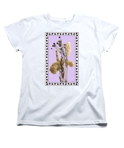 Cattails And November Flowers Women's T-Shirt (Standard Cut) by Lise Winne