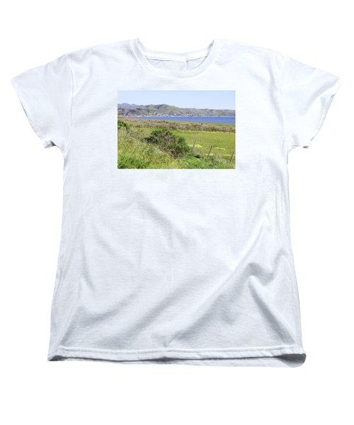 Women's T-Shirt (Standard Cut) featuring the photograph Cayucos Coastline - California by Art Block Collections