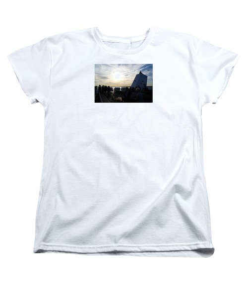 Women's T-Shirt (Standard Cut) featuring the photograph Celebrating The Sunset by Margie Avellino