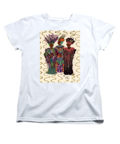 Women's T-Shirt (Standard Cut) featuring the mixed media Celebration by Angela L Walker