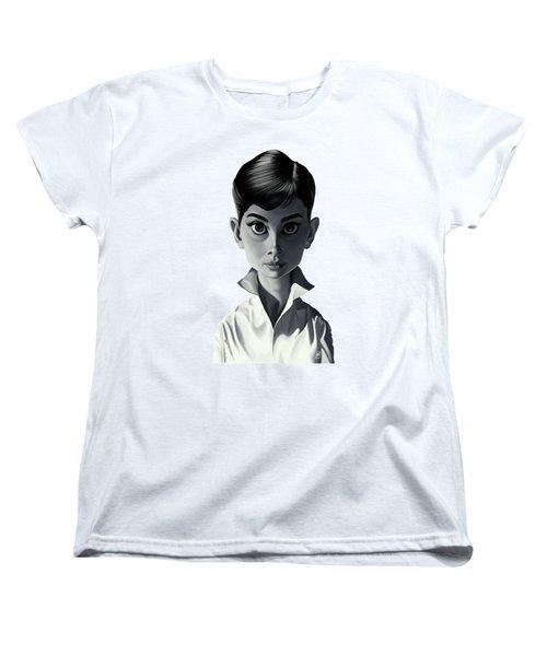Celebrity Sunday - Audrey Hepburn Women's T-Shirt (Standard Cut) by Rob Snow